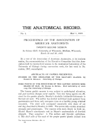 Proceedings of the Association of American Anatomists Twenty-second session.