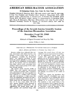 Proceedings of the seventh interim scientific session of the american rheumatism association December 9 and 10 1960 Dallas Texas.