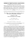 Proceedings of the Sixth Interim Scientific Session of the American Rheumatism Association December 1959.