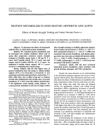 Protein metabolism in rheumatoid arthritis and aging. Effects of muscle strength training and tumor necrosis factor ╨Ю┬▒