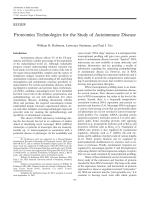Proteomics technologies for the study of autoimmune disease.