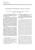 Protoporphyrin IX photodynamic therapy for synovitis.