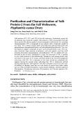 Purification and characterization of yolk protein-2 from the fall webworm  Hyphantria cunea drury.