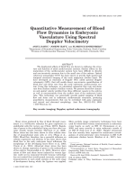 Quantitative Measurement of Blood Flow Dynamics in Embryonic Vasculature Using Spectral Doppler Velocimetry.