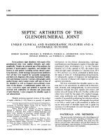 Septic arthritis of the glenohumeral joint.