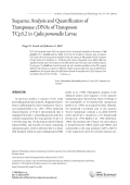 Sequence analysis and quantification of transposase cDNAs of transposon TCp3.2 in Cydia pomonella larvae