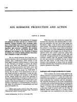 Sex hormone production and action.