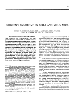 Sjgren's syndrome in MRLl and MRLn mice.