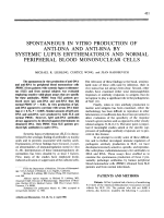 Spontaneous in vitro production of anti-DNA and anti-RNA by systemic lupus erythematosus and normal peripheral blood mononuclear cells.
