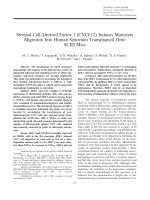 Stromal cellderived factor 1 CXCL12 induces monocyte migration into human synovium transplanted onto SCID Mice.