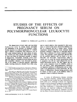 Studies Of The Effects Of Pregnancy Serum On Polymorphonuclear Leukocyte Functions.