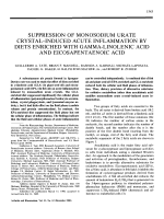 Suppression of monosodium urate crystal В Эinduced acute inflammation by diets enriched with gamma-linolenic acid and eicosapentaenoic acid.