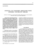 Synovial Fat Necrosis Associated with Ischemic Pancreatic Disease.