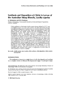 Synthesis and deposition of chitin in larvae of the Australian sheep blowfly  Lucilia cuprina.