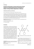 Synthesis and Evaluation of Antimicrobial Activity of Novel Hydrazino and N-Benzylidinehydrazino-Substituted 48-Dihydro-1H3H-pyrimido[45-d]pyrimidin-27-dithiones.