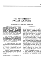 The arthritis of sweet's syndrome.