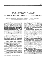 The Autoimmune Antigen me is Distinct and Related to Undifferentiated Connective Tissue Disease.
