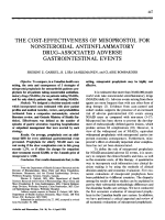 The cost-effectiveness of misoprostol for nonsteroidal antiinflammatory drugassociated adverse gastrointestinal events.