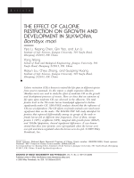 The effect of calorie restriction on growth and development in silkworm  Bombyx mori.