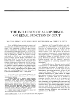 The influence of allopurinol on renal function in gout.