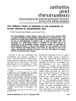 The inhibitory effect of salicylate on the acetylation of human albumin by acetylsalicylic acid.