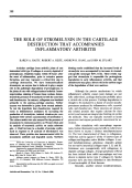 The role of stromelysin in the cartilage destruction that accompanies inflammatory arthritis.