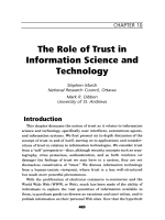 The role of trust in information science and technology.