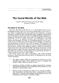 The social worlds of the Web.
