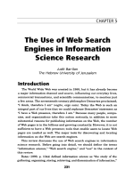 The use of web search engines in information science research.