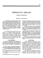 Thiemann' disease a brief reminder.