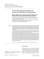 Three-dimensional inversion of automatic resistivity profiling data.