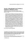 Transfer of phospholipids from fat body to lipophorin in Rhodnius prolixus.