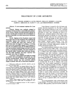 Treatment of lyme arthritis.