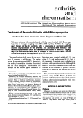 Treatment of psoriatic arthritis with 6-mercaptopurine.