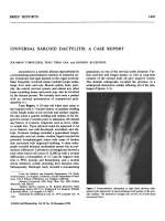 Universal sarcoid dactylitisa case report.