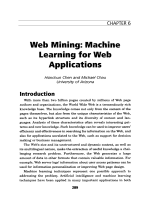 Web miningMachine learning for web applications.