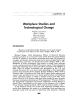 Workplace studies and technological change.