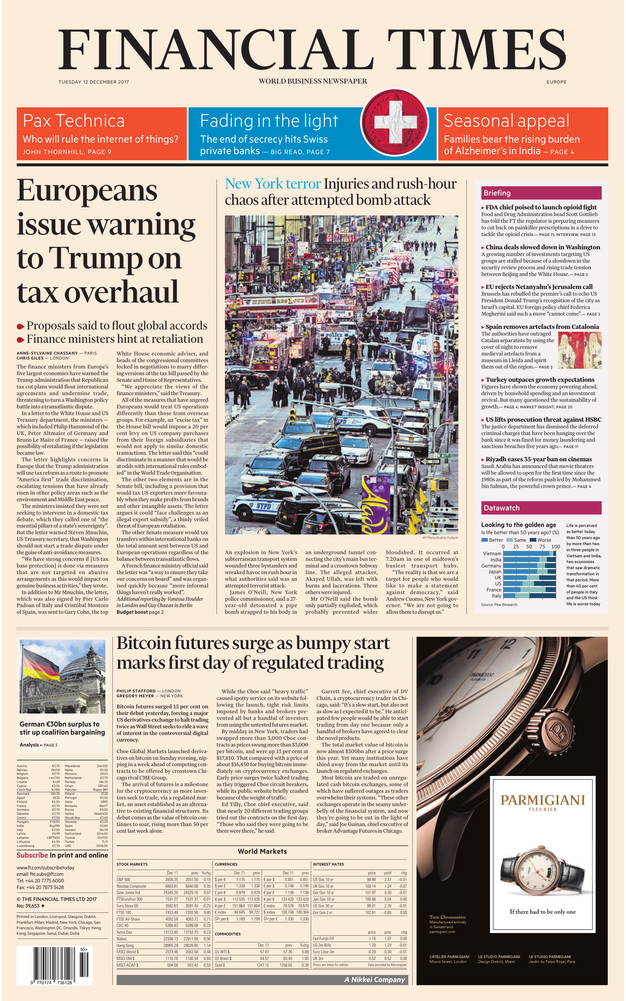 3800b62034dc Financial Times Europe – 12 December 2017
