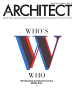 Architect Middle East – January 2018