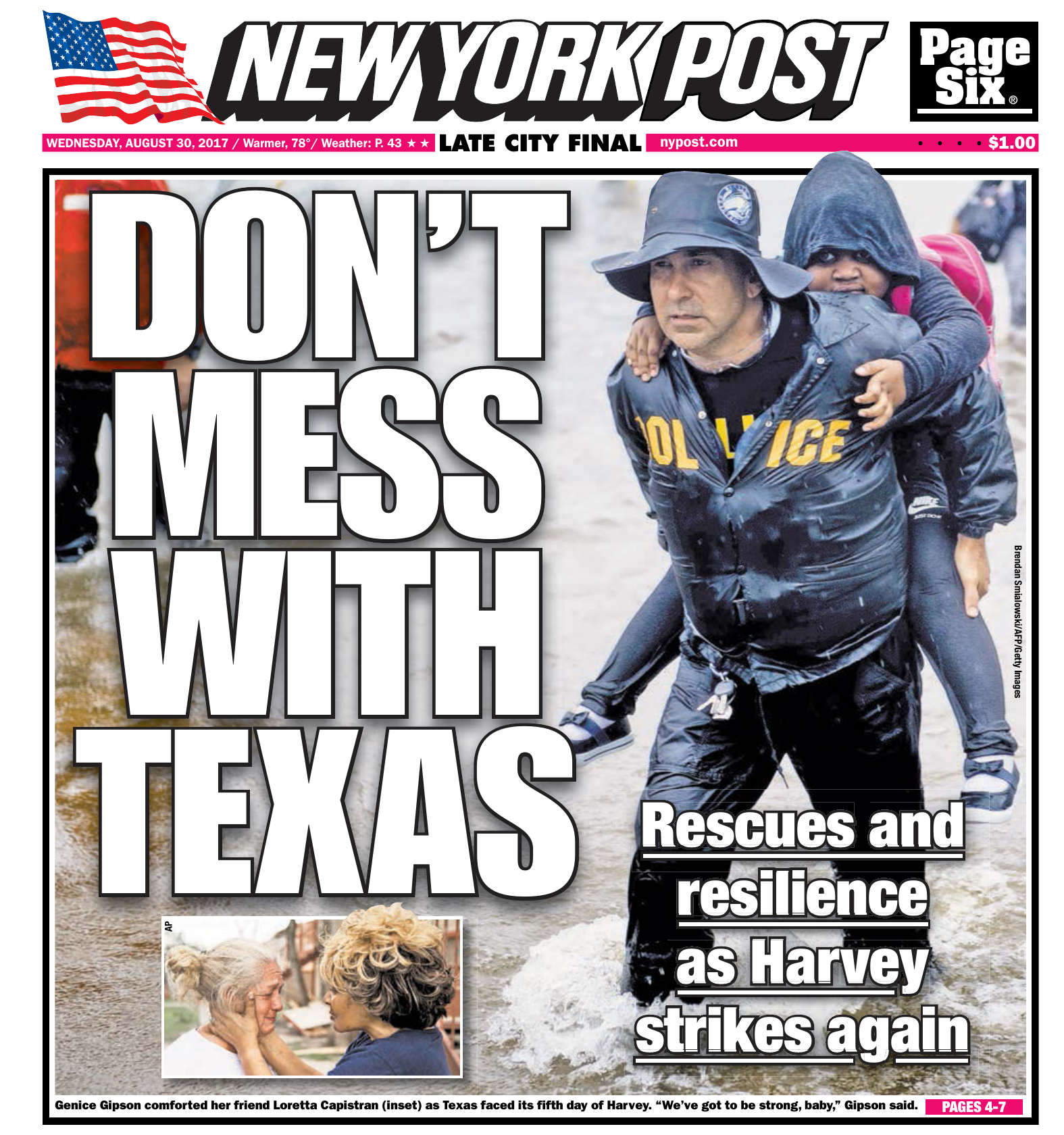 1a581544604f New York Post August 30 2017