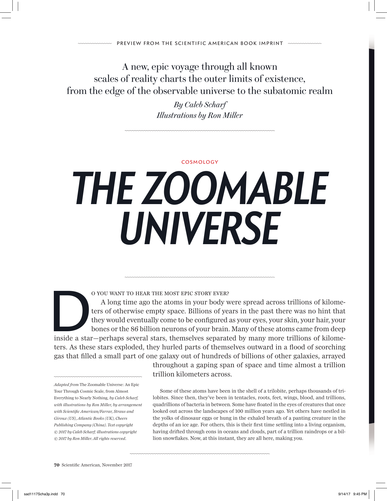 from Almost Everything to Nearly Nothing The Zoomable Universe An Epic Tour Through Cosmic Scale