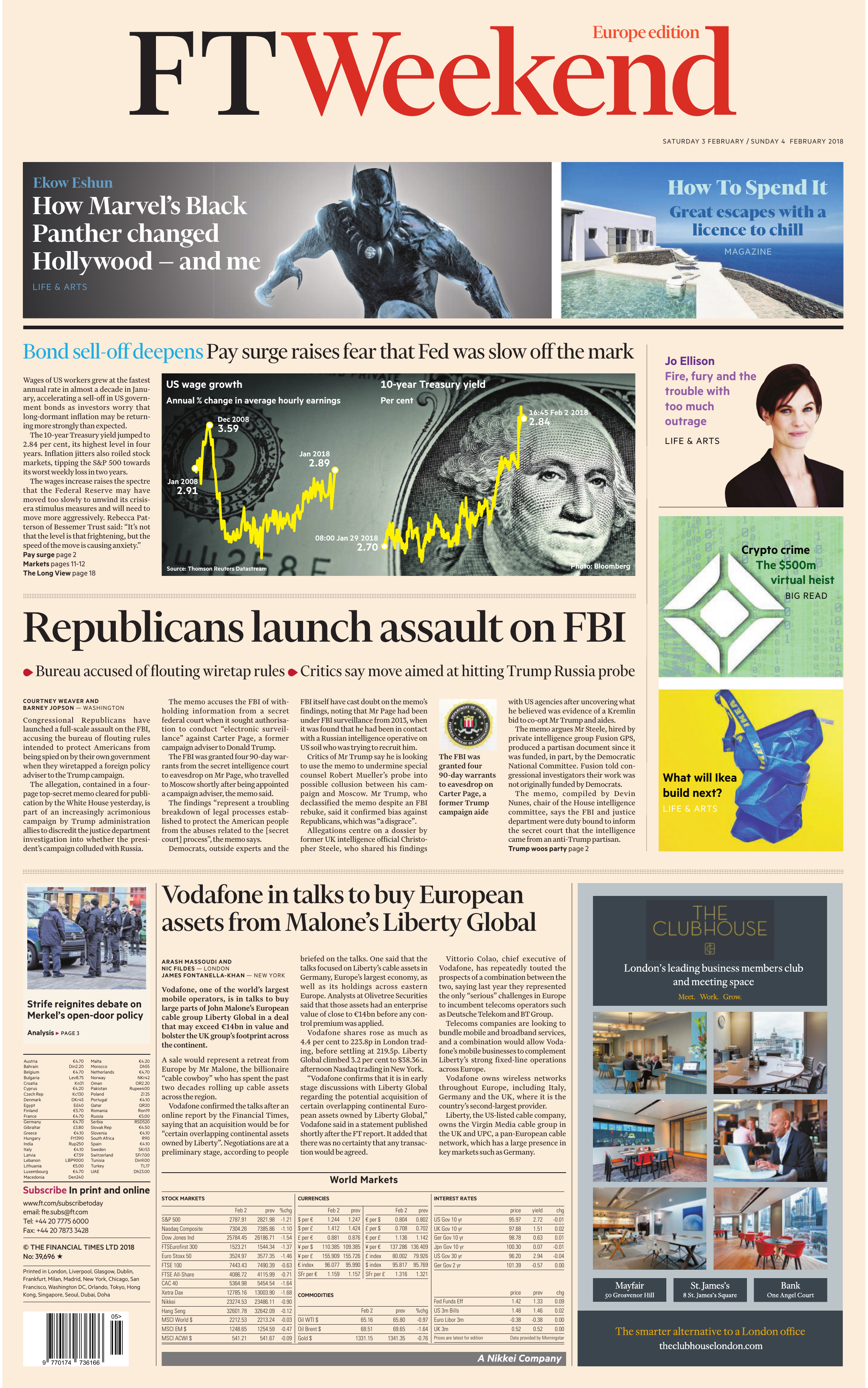 brand new 44572 27bcd Financial Times Europe – 03 February 2018