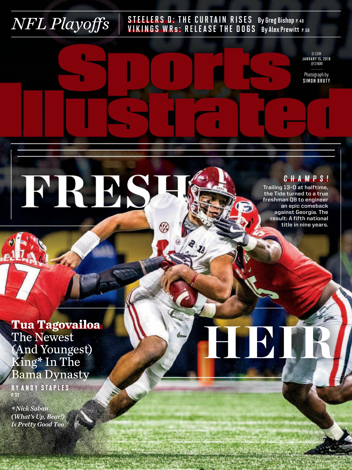 20604d52fcf Sports Illustrated USA — January 15, 2018
