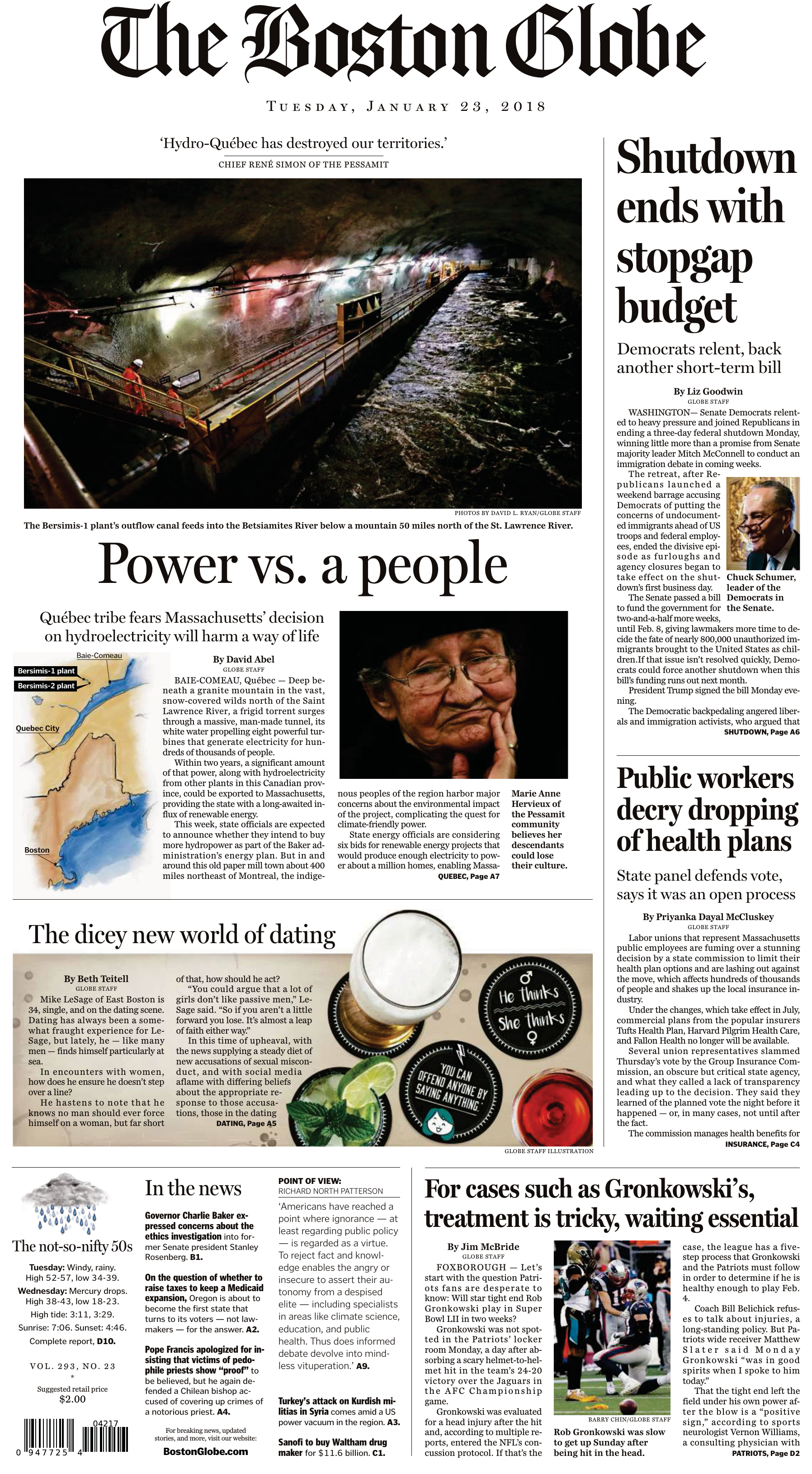 The Boston Globe - 23 January 2018 265265ff0