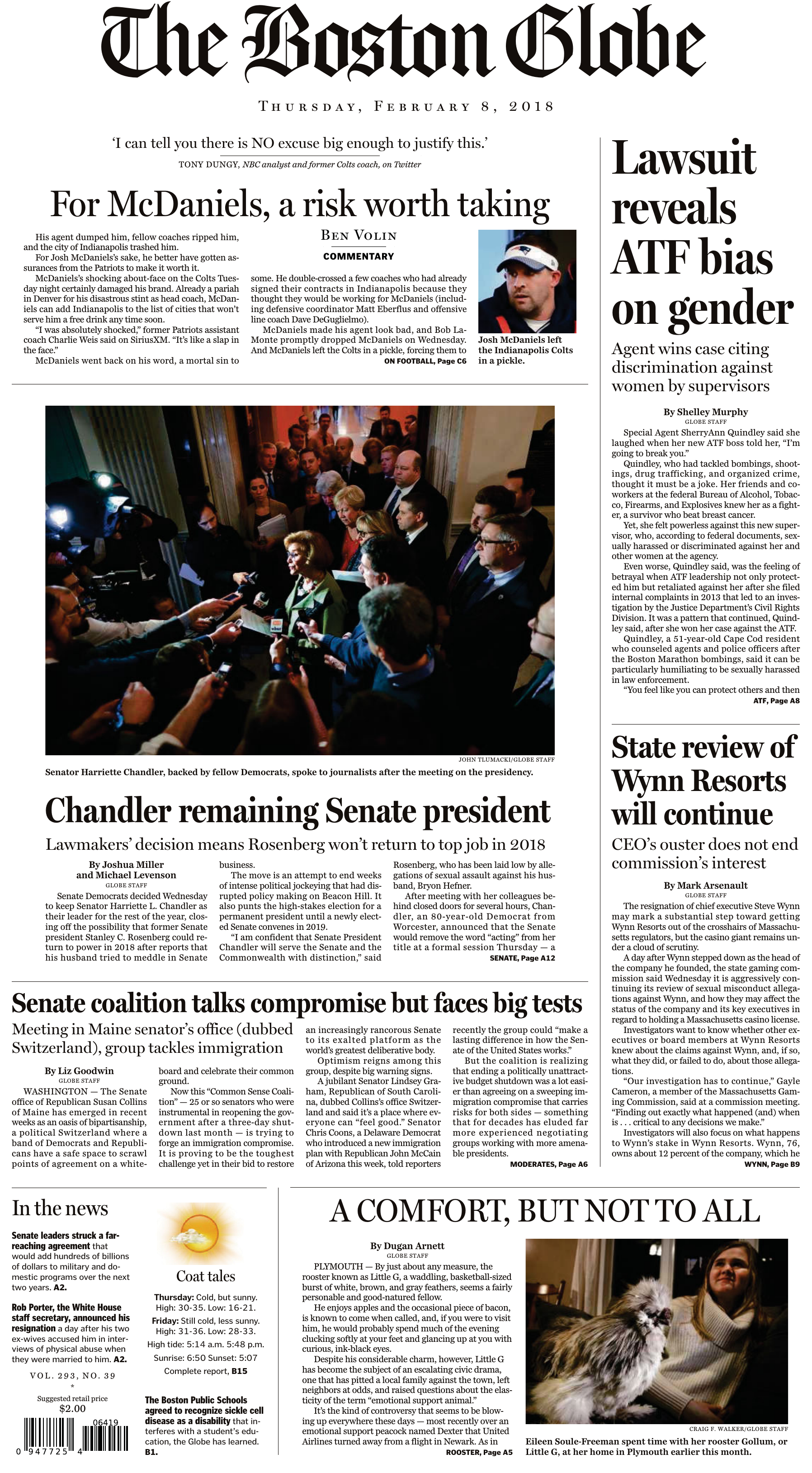 5c041d03a5 The Boston Globe – February 08, 2018