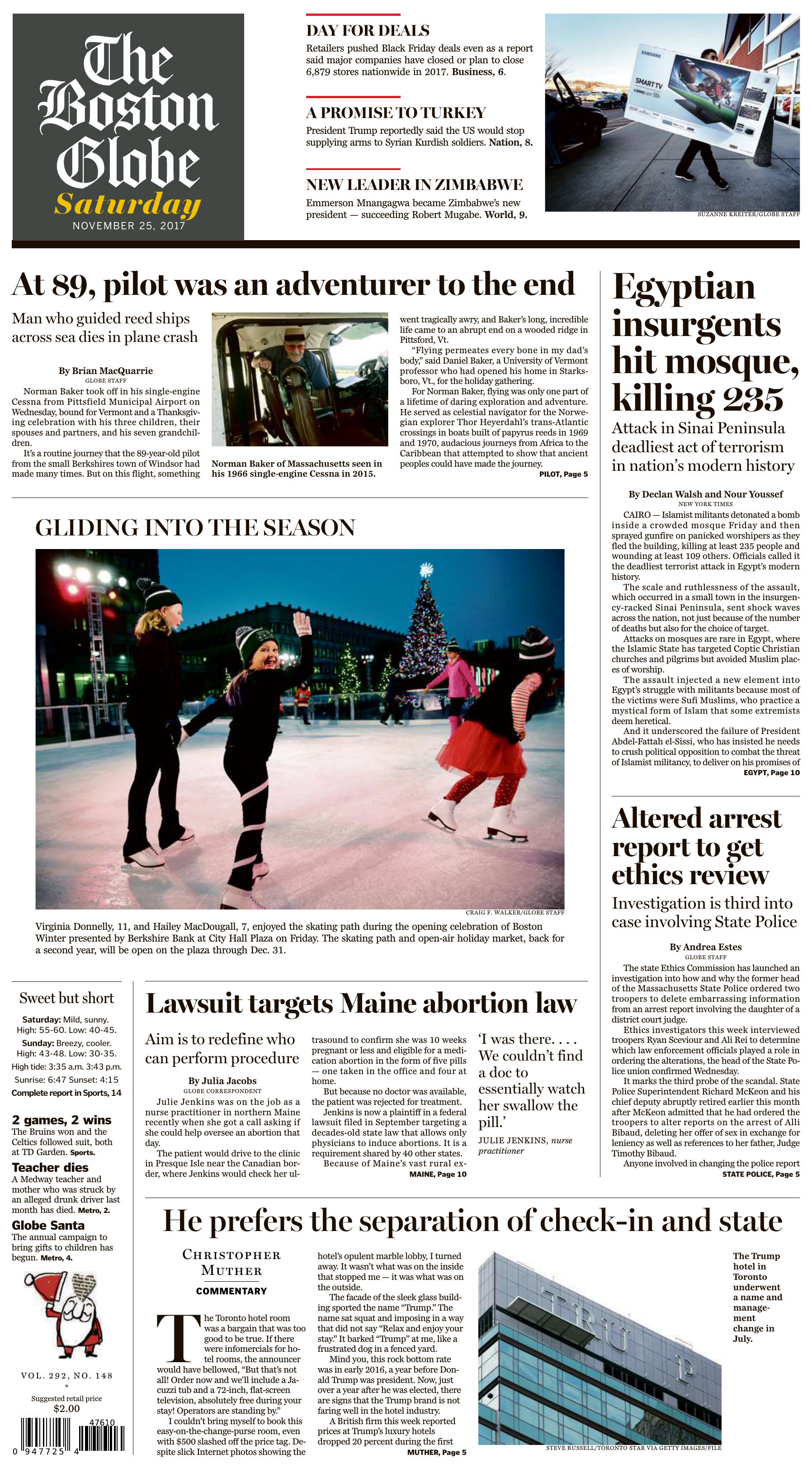 The Boston Globe – November 25 2017