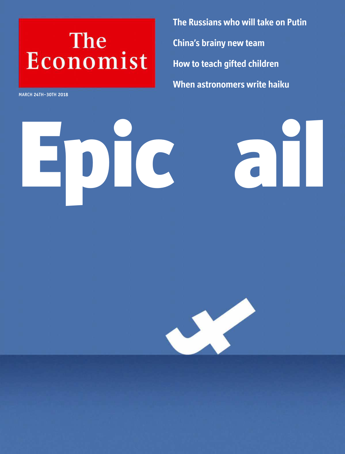 cheaper 0ebef bbe7f The Economist Continental Europe Edition - March 24, 2018