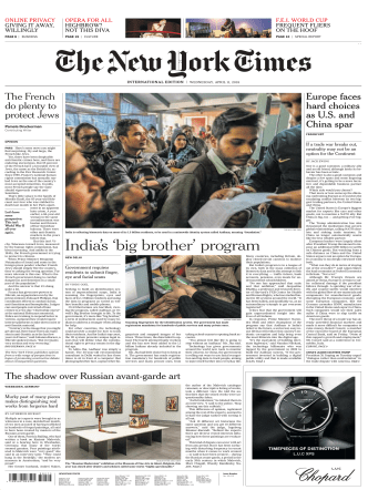 International New York Times - 11 April 2018