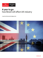 The Economist (Intelligence Unit) - A year to go how Brexit will affect UK industry (2018)