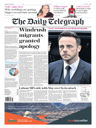 The Daily Telegraph - April 17, 2018